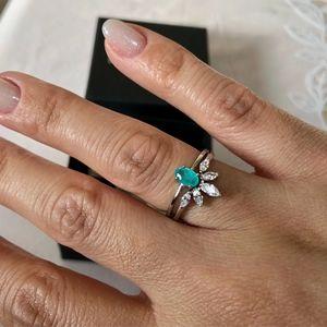 925 Dahlia Wishbone Ring